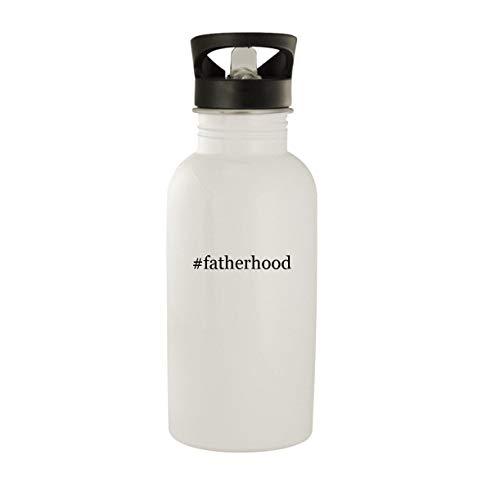 #fatherhood - Stainless Steel Hashtag 20oz Water Bottle, White