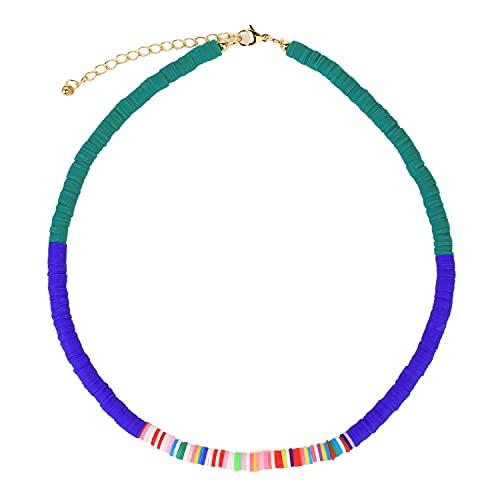 KANYEE Colliers Multicolores Colliers Réglables De Perles HEISHI Faits à La Main Colliers Ras du Cou D'amitié pour Femmes-02E