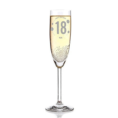 Leonardo Sektglas mit Gravur - Wunschname - zum 18. Geburtstag