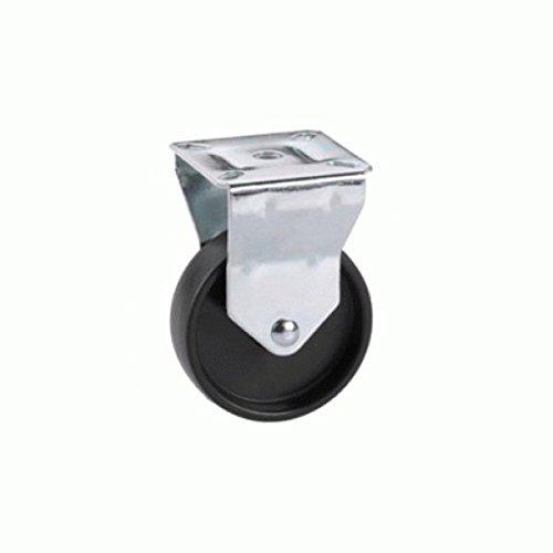 Dörner + helmer 772220 bokwiel met glijlager, 75x24 mm/plaat 60x67 mm, zonder vaststelling