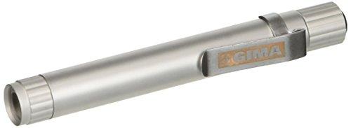 Gima - Lucciola Professionale GIMA a LED, Diagnostica, Corpo in Metallo, Colore Argento, Accensione a Pulsante