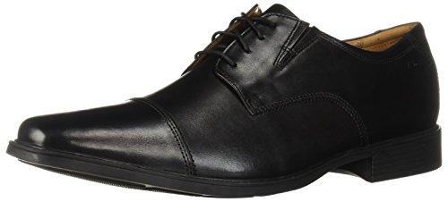 Clarks Men's Tilden Cap Oxford Shoe,Black Leather,9.5 M US