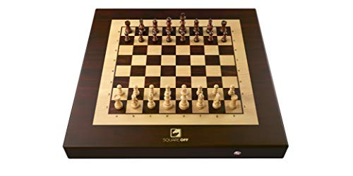 Square Off Kingdom Chess Set Innovative AI Electric Chessboard Wooden Board Game Educational Skill/Strategy Game for All Ages, 34 Piece Set