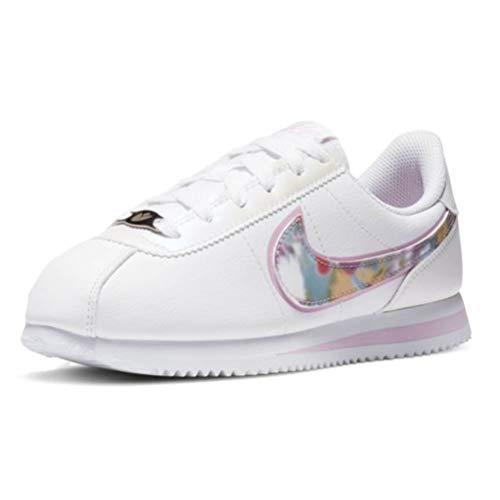 Nike Schuhe Cortez Basic SL SE (GS) Code CN8145-100, Weiß - Bianco Rosa Grigio - Größe: 39 EU