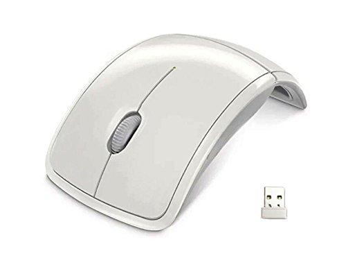 ESupFly 2,4 GHz opvouwbare opvouwbare draadloze boog optische muis muis met Mini USB-ontvanger voor Pad PC Laptop Computer (wit)