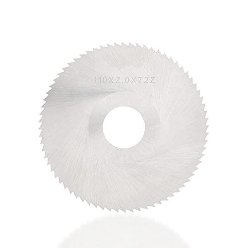 Hoja de sierra de corte 40T 72T 110mm HSS Disco de corte de metal de madera Herramienta eléctrica Hoja de sierra circular de alta dureza-110x3.0x27x40T
