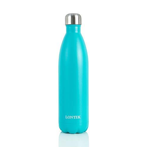 Lontek Gourde en Acier isolée 750ml Bouteille INOX Sport sans BPA Intérieur/Extérieur Garder 20 Heures Chaud et 24 Heures à Froid