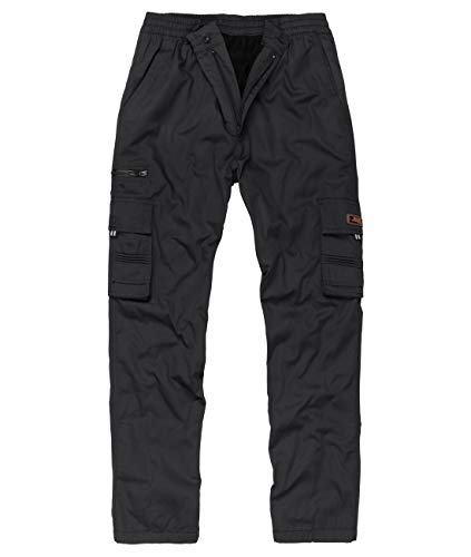 Fashion Herren Thermohose mit Dehnbund - mehrere Farben ID561, Größe:L;Farbe:Schwarz