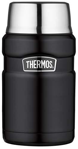 THERMOS Thermobehälter für Essen groß Lunchpot Stainless King, Thermogefäß Edelstahl schwarz 710ml, Speisegefäß für Essen, Suppen, Müsli, 4001.232.071, dicht, 14 Stunden heiß, 24 Stunden kalt