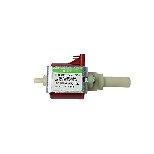 Lichtblau Pumpe Ulka EP5 48W 230V passend für Whirlpool Bauknecht 481236018581 DeLonghi 5132106900 Philips 422245945091 Wasserpumpe Kaffeevollautomat