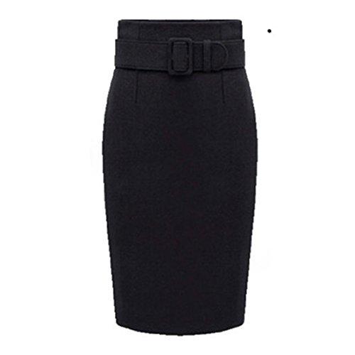 GWELL damska zimowa spódnica wełniana pogrubiona spódnica ołówkowa damska moda spódnice