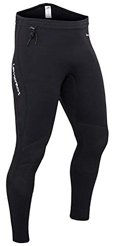 Lemorecn Wetsuits Pants 3mm Neoprene Winter Swimming Canoeing Pants(1031XXL)