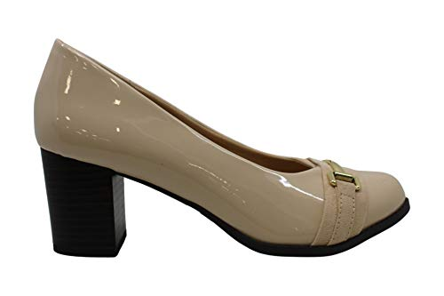 MIA Amore Women's Shoes Ivanaa Closed Toe Classic Pumps, Nude, Size 9.0