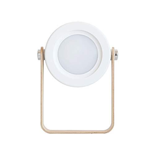 YYOMXXOM - Linterna LED de lectura plegable con intensidad regulable, luz nocturna, recargable por USB, para niños, regalo de noche, dormitorio (color: blanco cálido, color emisor: blanco)
