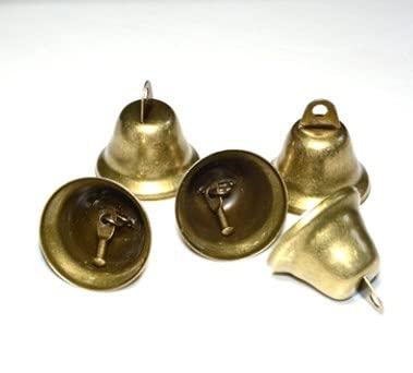 GmeDhc Campanellini, 2 pezzi campanellini sonagli piccoli in bronzo, campanellini natalizi, Campanellini colorati per Matrimonio, Natale, Compleanno, Halloween, Decorazione Albero Festa Sonagli