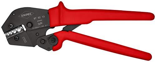 KNIPEX 97 52 13 Crimpzange auch für Zweihandbedienung brüniert mit rutschhemmenden Kunststoff-Hüllen 250 mm