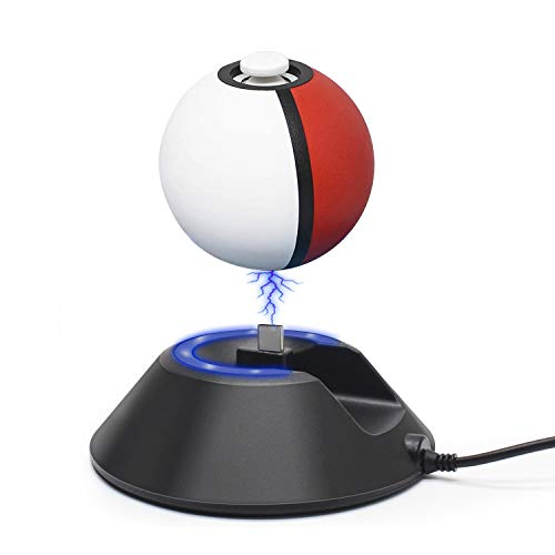 Charge Stand for Poke Ball Plus Controller, Charger Dock Station Holder with Type-C USB Charging Cable Accessories for Nintendo Switch Lets Go Pikachu Eevee Game Controller (black)