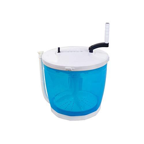 GL-GDD Tragbare Mini-Turbinenwaschmaschine, Kompakte Ultraschallreinigungsmaschine 2 In1 Handbetriebene Waschmaschine Spin Dryer Fit Für Camping Reisen Im Freien