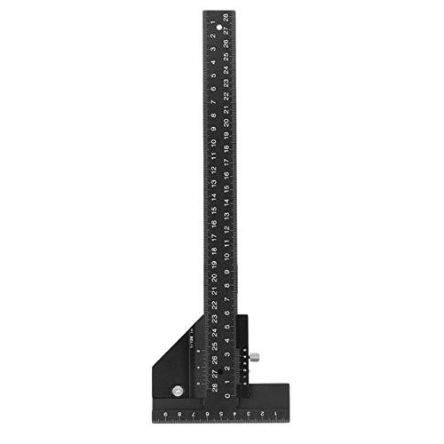 DIMDIM Multifunktions-Lineal für Holzarbeiten, Aluminium-Stahl, zum Messen von Markieren, Einrahmen, für Tischlerei, Werkzeug-Set (Farbe: schwarz)