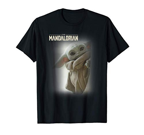 Star Wars: The Mandalorian The Child Peeking Logo Portrait T-Shirt