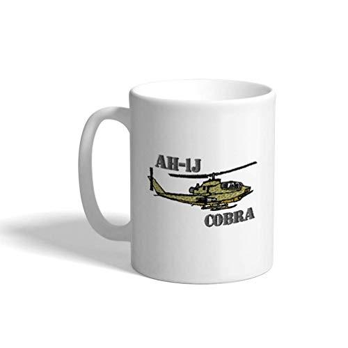 Keramische Grappige Koffie Mok Koffie Beker Ah-1J Cobra Helikopter Naam Witte Thee Beker 11 Ounces