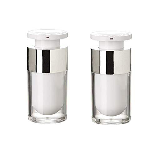 Lurrose 2pcs 15ML acrylique bouteille de lotion cosmétique vide bouteille de parfum de voyage rechargeable pour shampooing