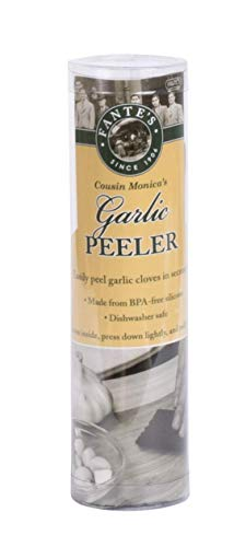 Fantes 43836 Silicone Garlic Peeler Tube, Green, The Italian Market Original Since 1906, 5 x 1.5-inches