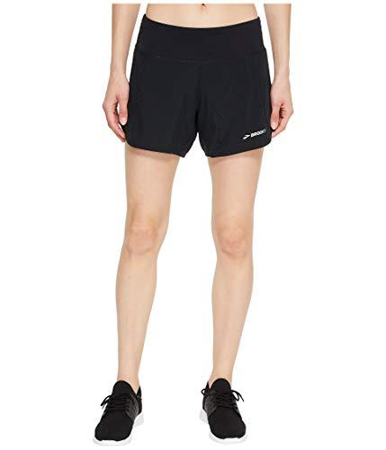 Brooks Women's Chaser 5' Short, Black, Medium