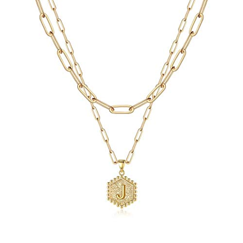 Gold Layered Initial Necklaces for …