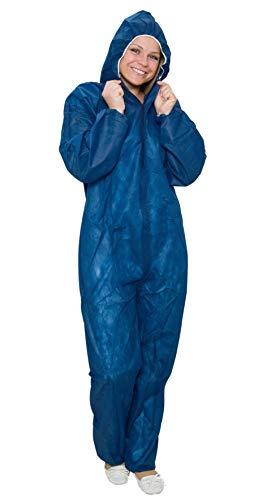10 x Maleroverall - Schutzanzug Größe XXXL - blau - Einwegoveralls Maleranzug Fastnacht Karneval Freizeit