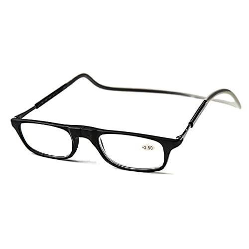 Click Magnetic Reading Glasses For Men And Women Hang Neck Lightweight Eyeglasses(x 2.5)