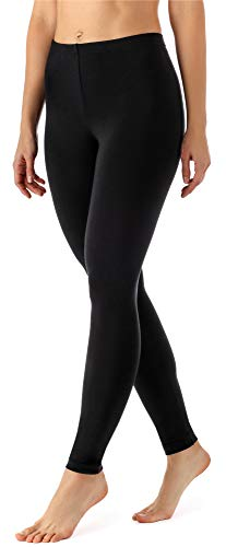 Merry Style Leggings Lunghi Pantaloni Donna MS10-143 (Nero, M)