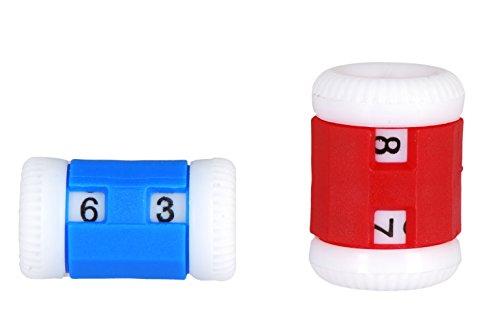 KnitPro Knit Pro Set klein + groß Reihenzähler, Kunststoff, rot/blau/Weiss, 11x5x2 cm, 2-Einheiten