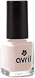 Avril - Vegan Nail Polish - Chemicals Free - Beige ROSÉ N°655 - Easy Application, Not Tested on Animals - 7ml