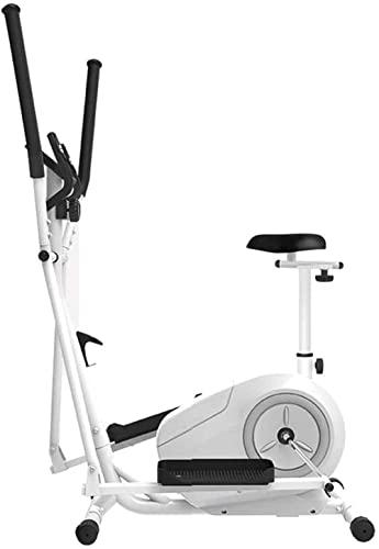 Equipo de Fitness elíptica Bicicleta estática Entrenamiento de pérdida de Peso Cardiovascular con Asiento + sensores de frecuencia cardíaca Bicicleta elíptica Pequeña, Robusta y compacta TDD