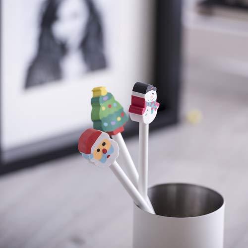 DISOK Lote de 100 Lápices Madera con Goma Borrador Incluida Navidad - Lapiceros para Navidad, Regalos y Detalles Infantiles Niños Navidad