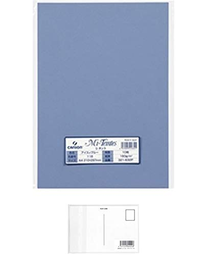 キャンソン ミ・タント タッチパッド 160g A4 10枚パック アイスィブルー + 画材屋ドットコム ポストカードA