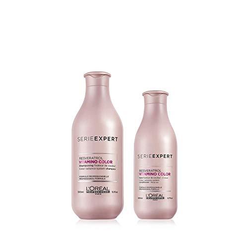 L'Oréal Professionnel Serie Expert Pflegeset für gefärbtes Haar | Vitamino Color Shampoo, 300 ml & Conditioner, 200 ml für Farbschutz, Glanz und Geschmeidigkeit