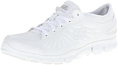 Skechers Womens Eldred Dewy Shoe, White, 8 M US