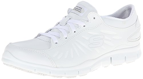 Skechers womens Eldred Dewey Health Care Food Service Shoe, White, 6.5 US