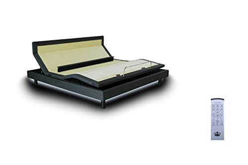 DynastyMattress New! DM9000s -Top of The Line Adjustable Bed Base-Wireless Remote-Dual Massage-Bluetooth- Head Tilt-Audio Music-Lumbar Support (Full-Without Setup)