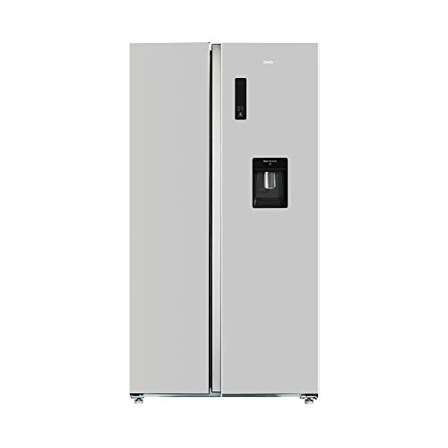 CHiQ FSS559NEI32D Side By Side Kühlschrank mit Inverter und No Frost Technologie 559L | Side-by-Side Kühl- Gefrierkombination mit Wassertank | Wasserspender | Sehr leise 42 db | LED Display