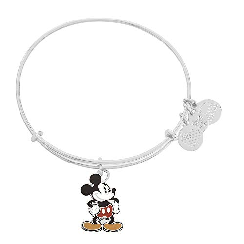 Alex and Ani Disney Parks Alex and ANI Classic Mickey Minnie Bangle Bracelet - Jewelry Gift (Mickey)