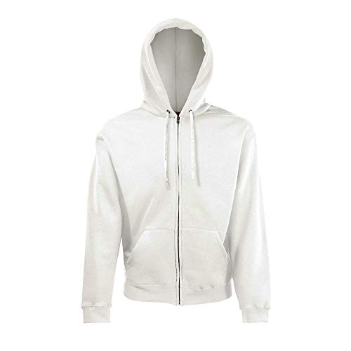 Fruit of the Loom - Hooded Sweat Jacket - Modell 2013 L,White