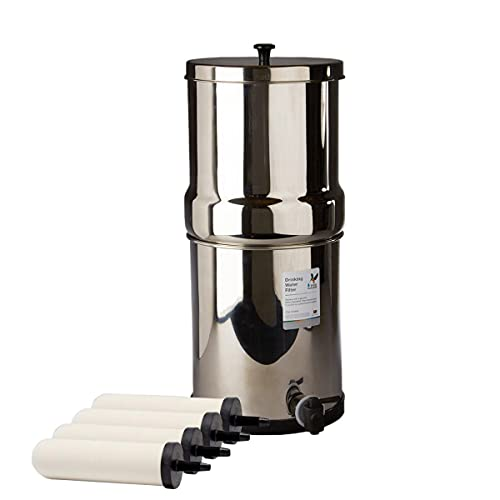 Doulton W9361122 Gravity Water Filter System Stainless Steel with 4x Super Sterasyl Candle Filters