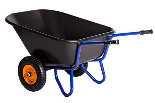 KELBERG 2-Rad Hofkarre 293L | 250 kg | Baukarre Gartenkarre | PP Mulde | Luftreifen mit Stahlfelge