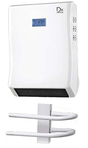 DREXON 813210 - Radiateur Sèche-serviette soufflant - Modèle DALLAS - 2000 W - Blanc