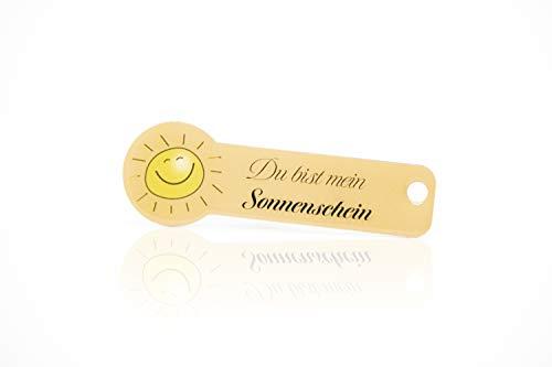 Einkaufswagenlöser Code24 Sonnenschein-, Praktischer Einkaufschip & Schlüsselanhänger/Motiv: Sunshine, inkl. Schlüsselfundservice, Key-Finder
