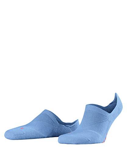 Falke Cool Kick Invisible - Calcetines invisibles para hombre, color blanco y negro, sin diseño, transpirables, corte alto, con suela de felpa, unisex, 1 par Azul (Sky Blue 6534) 46-48