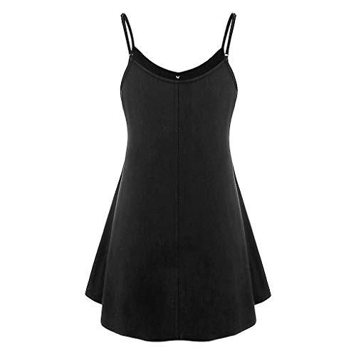 FORESTIME Summer Workout Women's Blouse,Women Plus Size V Neck Sleeveless Button Sunflower Printing Tank Tops Blouse,Exercise Clothes Active Sport T-Shirt(Black,X-Large)